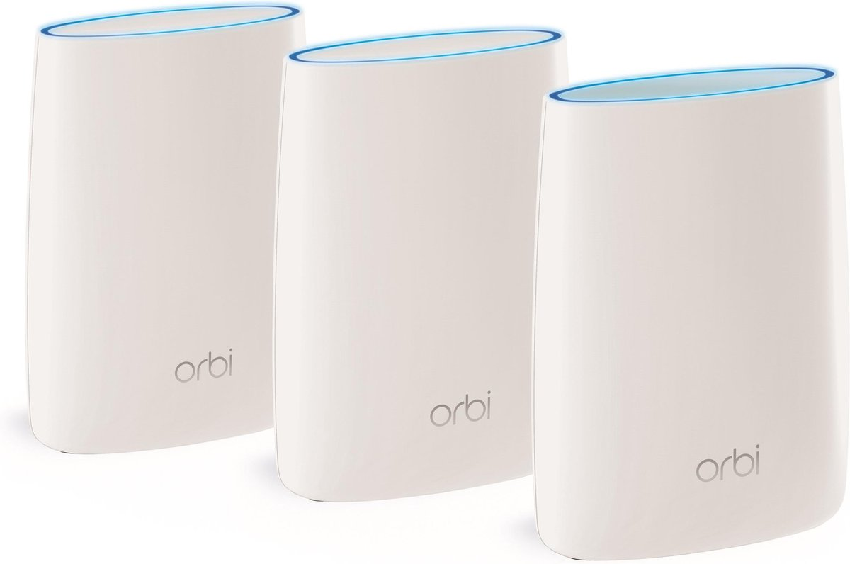 Netgear Orbi RBK53S - Multiroom Wifi Systeem - Triple Pack - Wit