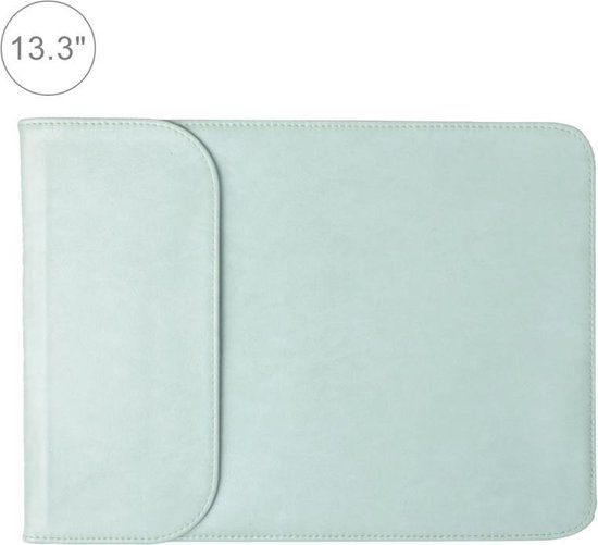 Let op type!! 13 3 inch PU + nylon laptop tas Case Sleeve notebook draagtas  voor MacBook  Samsung  Xiaomi  Lenovo  Sony  DELL  ASUS  HP (mint groen)