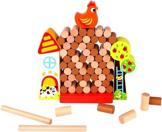 Afbeelding van het spel Stapeltorenspel boerderij