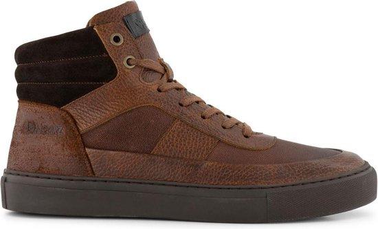 NoGRZ A.Rimaldi - Halfhoge gevoerde heren schoenen - Cognac Bruin Leer - Maat 44