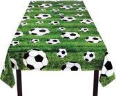 Boland -  Decoratie > Tafelkleden - Plastic voetbal/voetbalveld tafelkleed 120x180cm