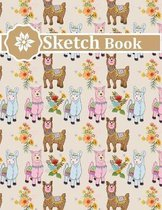 Sketch Book: Pretty Llama Queen Sketchbook For Drawing Lovers
