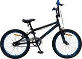 Amigo Fly - BMX fiets 20 inch - Voor jongens en meisjes - Zwart/Blauw