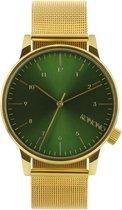 Komono Winston Royale Gold/Green  KOM-W2355 - Horloge - Goudkleurig -41 mm