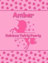 Amber Rainbow Twirly Pearly