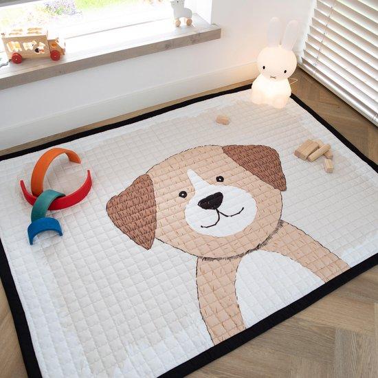 Love by Lily - groot speelkleed baby - hond - 150x200 - zacht speelkleed buiten en binnen - grote speelmat - speeltapijt kind - picknick kinderkleed - speelkleed xxl - speelkleed peuter