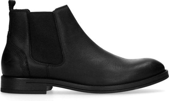 Sacha - Heren - Zwarte leren chelsea boots - Maat 43