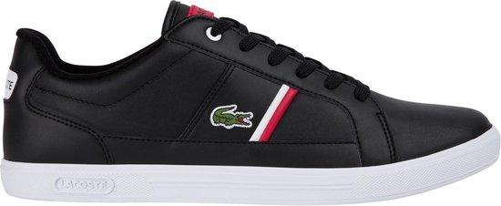 Lacoste Europa 0120 1 SMA Heren Sneakers - Black/White - Maat 40