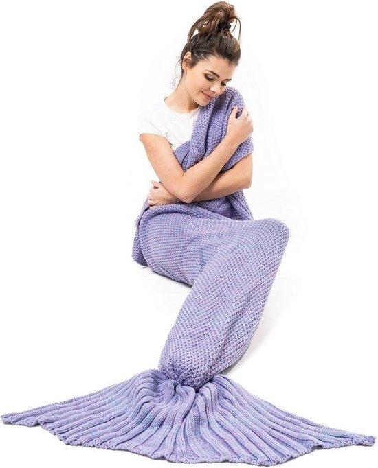 Zeemeerminstaart deken deluxe - Paars