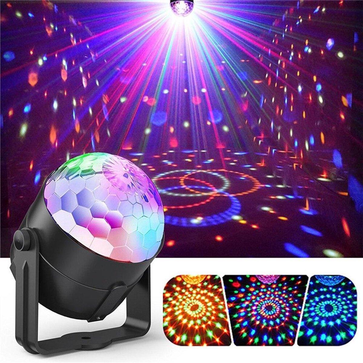 Mobstore Roterende LED Discolamp met Afstandsbediening en Muziekgestuurd - Kinderen - Volwassenen -