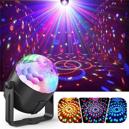 Mobstore Discolamp met Afstandsbediening en Muziekgestuurd - Kinderen - Volwassenen - Discolamp met 10 standen - Disco en Feest Licht op Geluid met 51 LEDs - Discobal - Discoverlichting - Feestverlichting