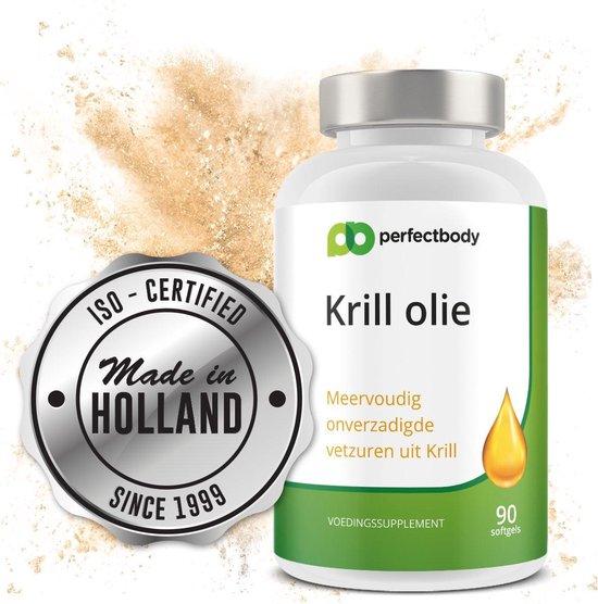 Zuivere Krillolie (1000 Mg Per 2 Capsules) Bron Van Omega-3 Vetzuren Uit Visolie | Superba Krill (Zuiverste Vorm Verkrijgbaar) | PerfectBody.NL