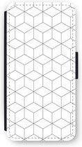 iPhone 6/6S Plus Flip Hoesje - Zwart-witte kubussen