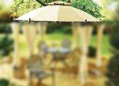 Trend24 - Waterdicht paviljoen dak 350 cm Beige Creme - Zeer stevig Oxfort 420D