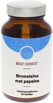 Best Choice Bromelaine met Papaine 60 tabletten