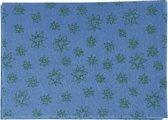 Hobbyvilt, A4 21x30 cm, dikte 1 mm, blauw, groen glitter sterren, 10vellen