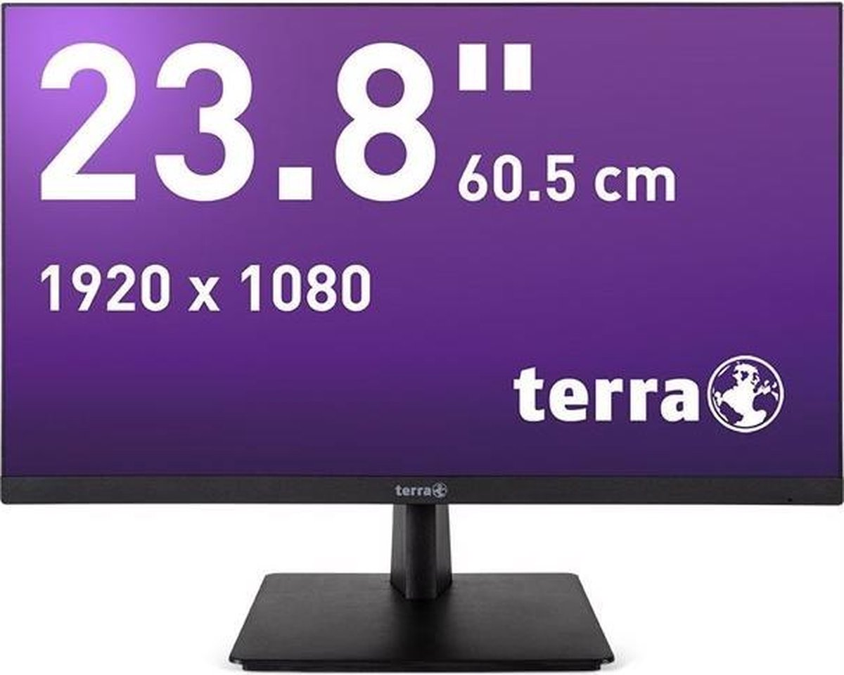 Wortmann AG TERRA 2463W 60,5 cm (23.8) 1920 x 1080 Pixels Full HD LED Zwart