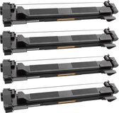 Toner cartridge / Alternatief Promo pakket 4 x Brother TN-1050 toner zwart | Brother DCP-1510/ DCP-1512A/ DCP-1610W/ DCP-1612W/ DCP-1616NW/ HL-1110R/ H