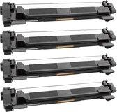 Toner cartridge / Alternatief Promo pakket 4 x Brother TN-1050 toner zwart | Brother DCP-1510/ DCP-1512A/ DCP-1610W/ DCP-1612W/ DCP-1616NW/ HL-1110R/ H