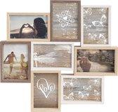 Nielsen Fotolijst Collage 8 Foto's - 10x15cm - Meerkleurig - Hout