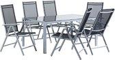 Beliani Catania tuinset - zwart - 6 stoelen en 1 tafel
