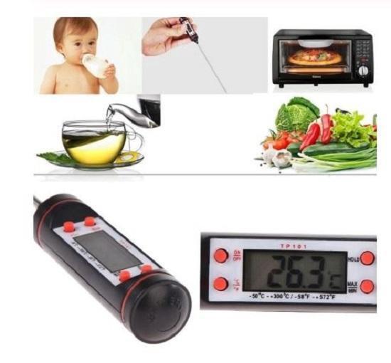 Digitale Thermometer - Thermometer keuken - Koken Bakken en Braden - Zwart - Merkloos