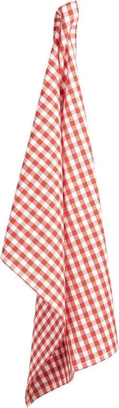 Clayre & Eef Theedoek APY42-1 50*70 cm - Rood 100% Katoen Vaatdoek Keukendoek Schotelvod