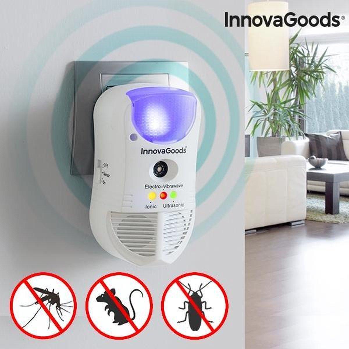 InnovaGoods Home Pest 5-in-1 Ongediertebestrijder met Ledlicht en Sensor