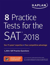 Boek cover 8 Practice Tests for the SAT 2018 van Kaplan Test Prep