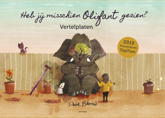 Boek cover Vertelplaten Heb jij misschien Olifant gezien? van David Barrow (Onbekend)