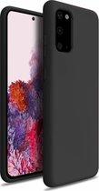 Shieldcase Samsung Galaxy S20 hoesje siliconen (zwart) + glazen screen protector