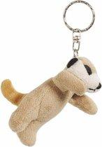 8x Pluche Stokstaartjes knuffel sleutelhangers 6 cm - Speelgoed dieren sleutelhangers