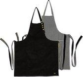 Dutchdeluxes - Reversible Schort - 2-zijdig te dragen - Zwart & Pied de Poule