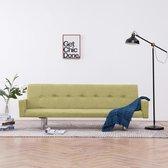 Slaapbank met armleuning polyester groen