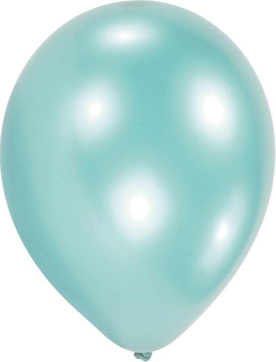 Amscan Ballonnen Pearl Blauw 27,5 Cm 50 Stuks