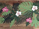 Hawaii thema feest decoratie orchidee bladeren 24x stuks - feestartikelen en versieringen