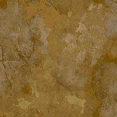ZERO | Beton stuc look | goud, bruin | vinyl op vlies 0,53x10m