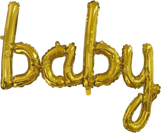Folie Ballon Baby Goud 119cm Leeg
