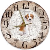 Houten Klok - 30cm - Hond - kooikerhondje
