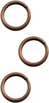 Brass jump ring 4mm x70 ant. copper plated