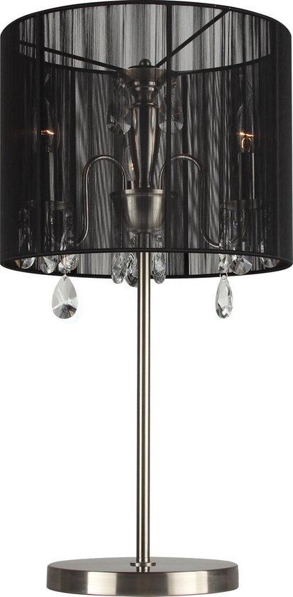Spiksplinternieuw bol.com | Tafellamp Merel 3 lichts + zwarte kap UX-07