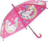 Toi-toys Kinderparaplu Eenhoorn Roze 66 Cm