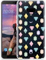 HTC U12 Plus Hoesje Diamonds
