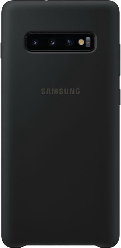 Samsung silicone cover - zwart - voor Samsung Galaxy S10 Plus