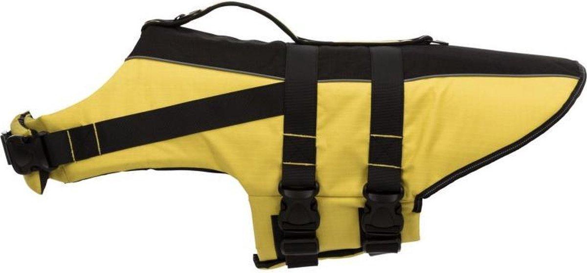 Trixie zwemvest geel / zwart 42-66x35 cm