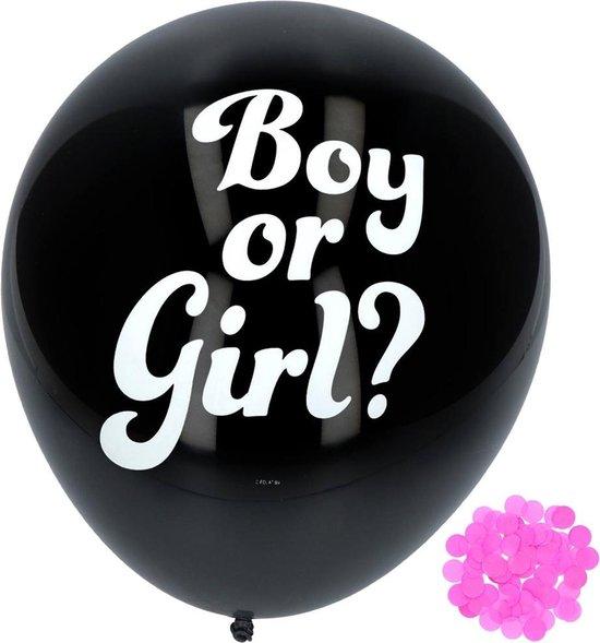 Confetti ballonnen Gender Reveal Girl - 3 stuks
