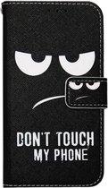 ADEL Kunstleren Book Case Hoesje voor Samsung Galaxy J5 (2017) - Don't Touch My Phone