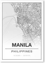 Poster/plattegrond MANILA - 30x40cm