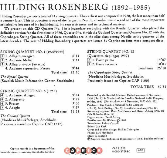 String Quartet Nos. 1, 6, 12