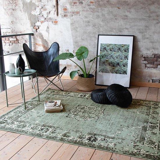 Vintage vloerkleed - 70x140 cm - Groen Zwart